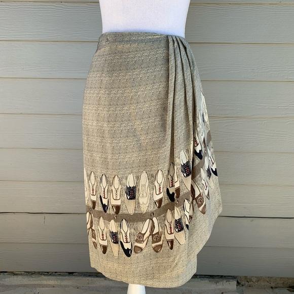 Austin Reed Dresses & Skirts - Austin Reed Brogue Shoe Pencil Silk Skirt